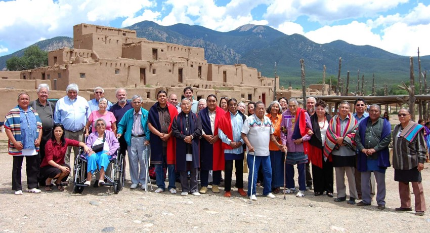 AIO Board with Taos Pueblo leaders